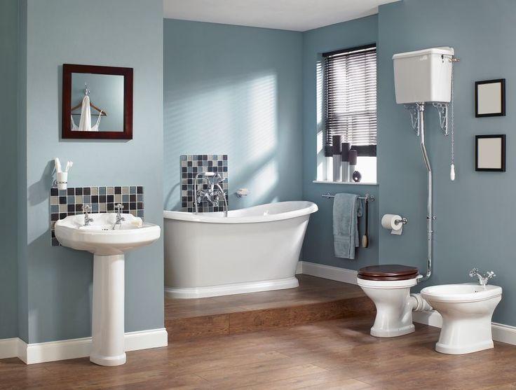 Blue Bathroom Color Schemes, Blue Brown Bathroom Ideas