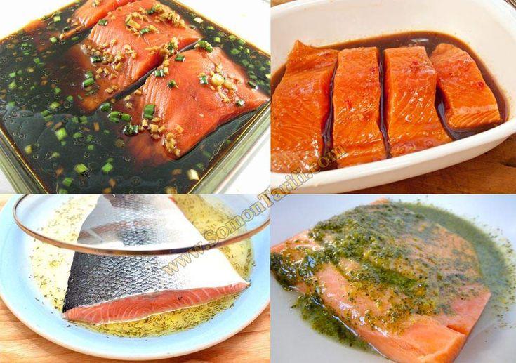 Somon Balığı Pişirmeden Önce Marine Edin