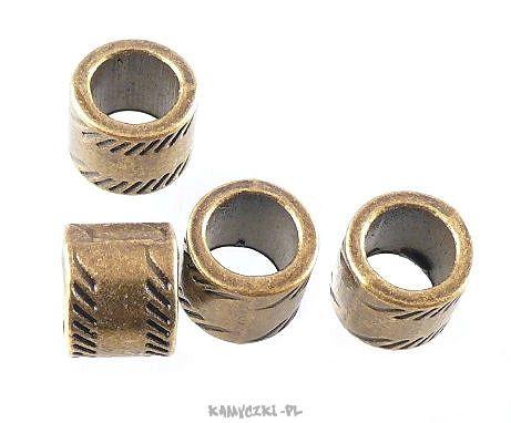 Przekładka ozdobna 8/10mm fi 7 kolor starego złota - Półfabrykaty jubilerskie, narzędzia jubilerskie, elementy srebrne i perły
