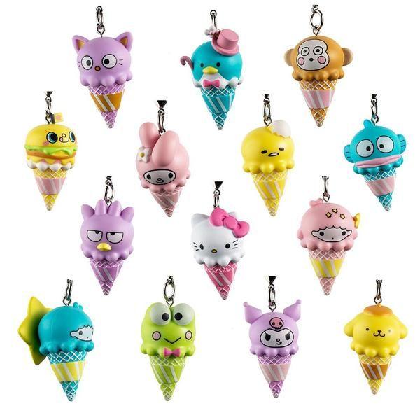 Keroppi kidrobot Hello Sanrio Ice Cream Cone Keychain Series New