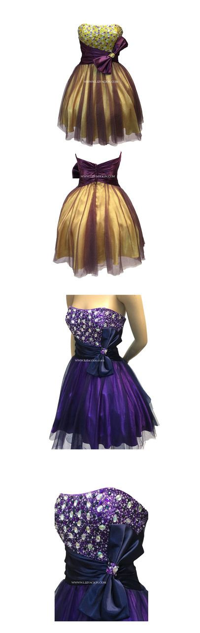 Chicas Purple Mustard-yellow Sequin Cocktail Dress - Homecoming Prom Dress #cocktaildress #partydressjn #cocktailparty #cocktails #promdress #prom #fashionbloggers #fashioninspiration #miniskirt #sequins #formal  #formaleveningdresses #straplessdress #sleeveless #woman #womenswear  #womenfashion #junior