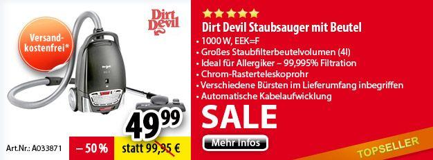 Dirt Devil Staubsauger mit Beutel