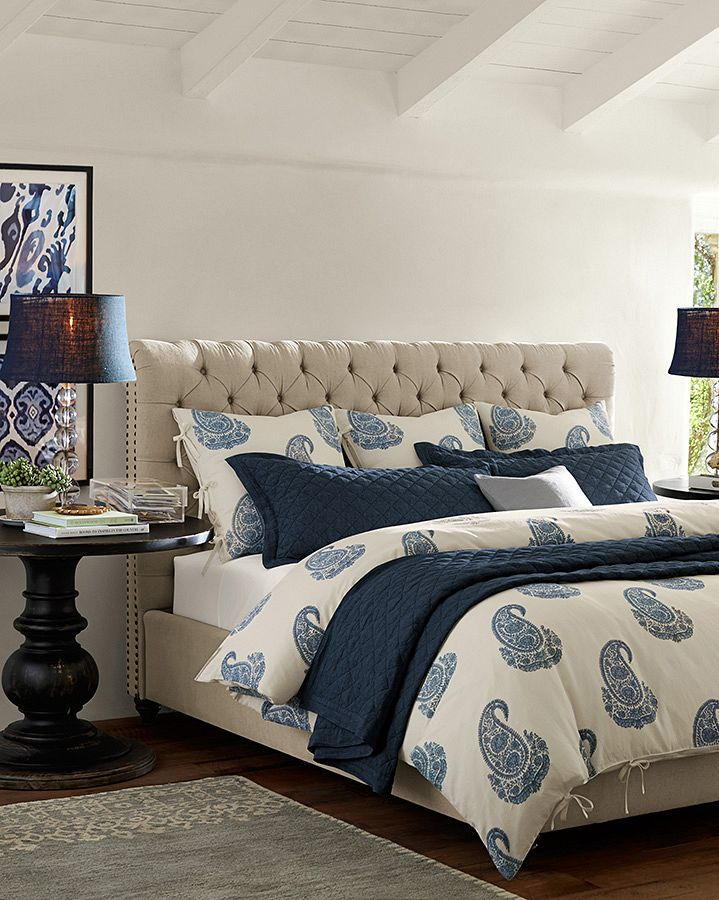 Traditional Master Bedroom with Pottery Barn Rayna