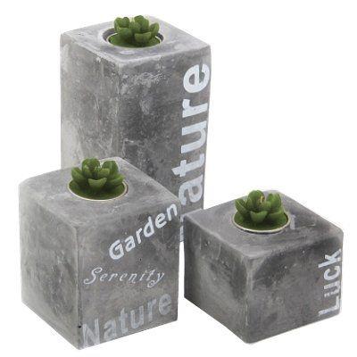 Theelichthouder steen Stone Nature 3 dlg