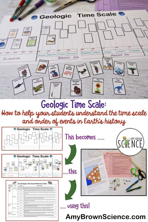 Evolution And The Geologic Time Scale Earth Science Activities Geologic Time Scale Middle School Science
