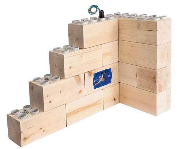 Un ingegnere italiano ha inventato dei mattoni che si utilizzano come i LEGO. Per costruire un muro basta incastrarli tra di loro..