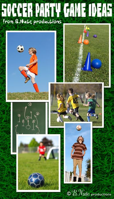Soccer party game ideas--keep the kiddos busy at your soccer themed party with these ideas (and don't forget you can buy your equipment at #poolsoftupelo) www.poolsoftupelo.com