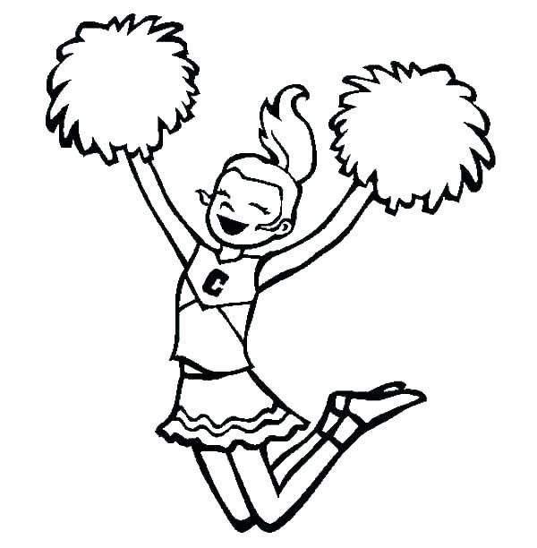 Cheerleader Coloring Page Megaphone Pages Pom And Poms Hello Kitt