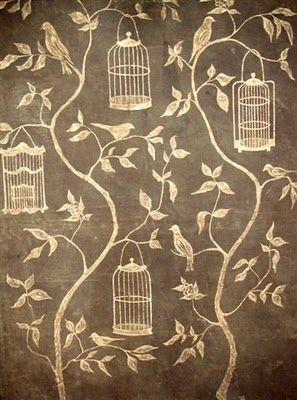 hand done by Eva Badenhorst: Vans Breem, Birds Cages, Swedish Interiors, Birdcage, Wall Murals, Badenhorst Design, Eleish Vans, Artists Eva, Accent Wall
