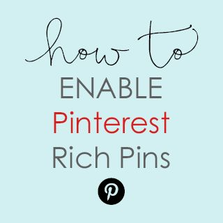 I get asked a lot how to add Pinterest Rich Pins to websites & blogs, so I thought I share with you how to do it for both WordPress.org and Blogger/Blogspot blogs if you're the DIY kind… if not, I can do it for you – contact me here. Rich Pins on Pinterest are like...Read More »