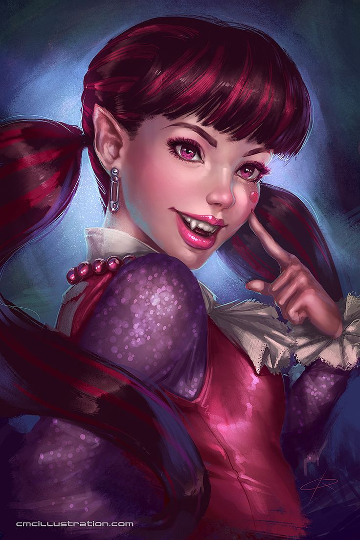 Draculaura Portrait by Aioras on DeviantArt