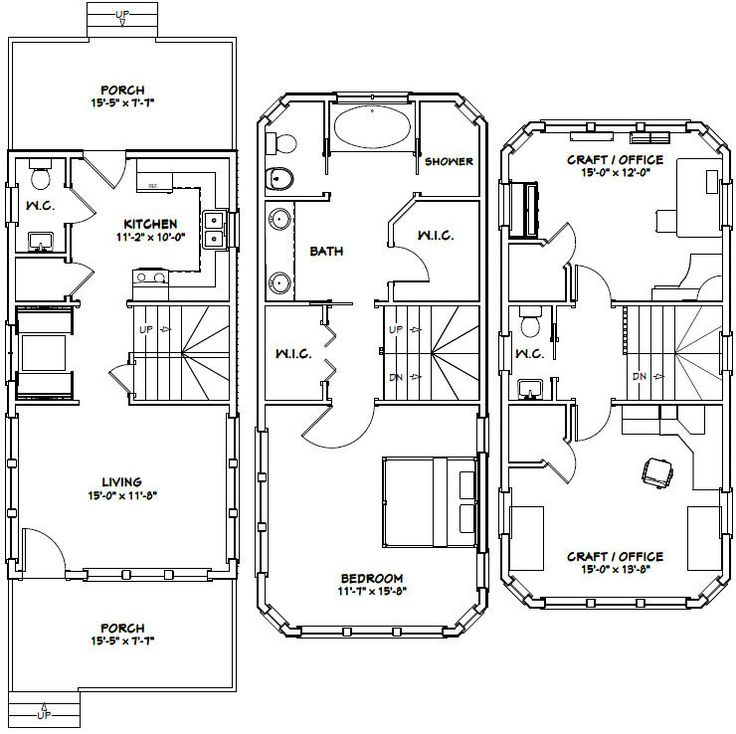 464 best home floorplans small spaces images on for 16x30 house plans