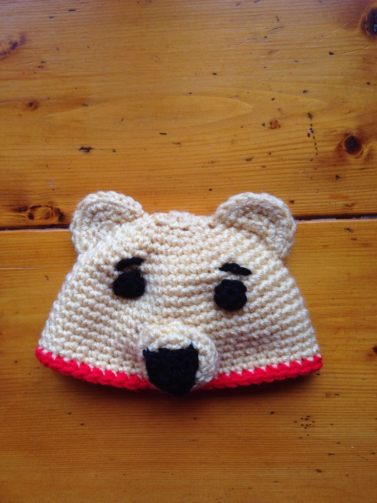 Crochet Pooh Bear Hat Pattern : Pooh Bear hat made for Parker Brooks 2013. Crochet or ...