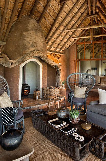 Outside Lounge at Kopano #MadikweSafariLodge #MOREplaces #LuxurySafari #MalariaFreeSafari #KopanoLodge