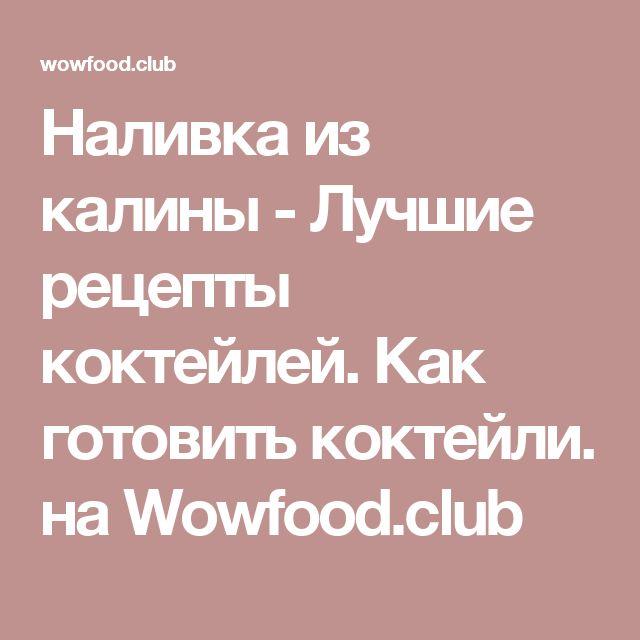 Наливка из калины - Лучшие рецепты коктейлей. Как готовить коктейли.  на Wowfood.club
