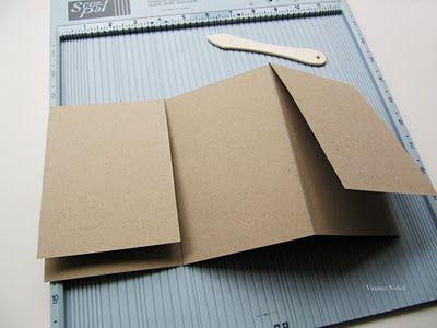 Directions for an accordian tri-fold album