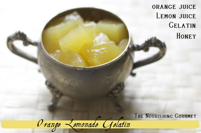 Tangy Orange Lemonade Gelatin made with all-natural ingredients. It's yummy and a great source of vitamin C!