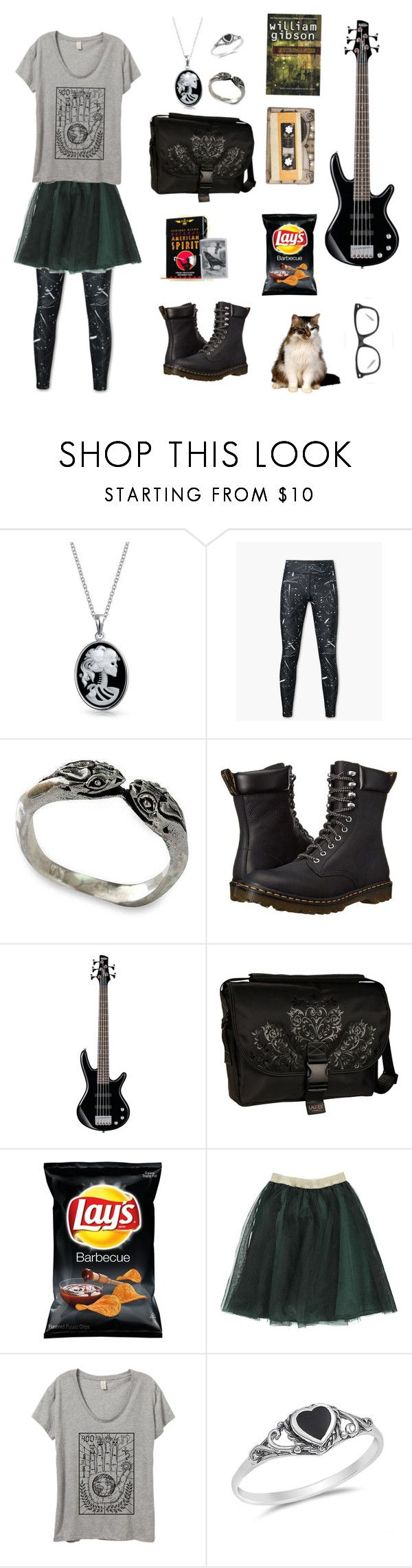"""""""That girl in the band who works at the thrift store"""" by dot-aitch ❤ liked on Polyvore featuring Bling Jewelry, MANGO, NOVICA, Zippo, Dr. Martens, Cachet and Laurex"""