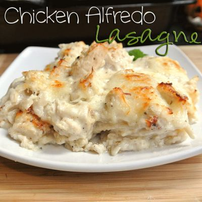 Chicken Alfredo Lasagne, need to find GF lasagna noodles! Good company dish