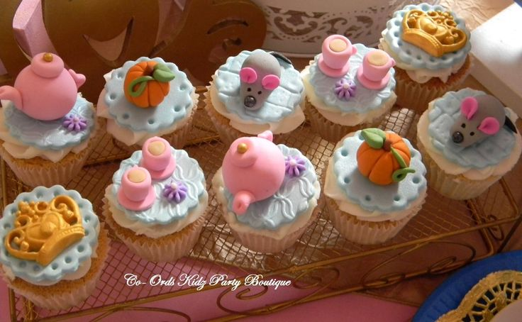 Cinderella cupcakes for a Little Ladies High Tea party by Co-Ords Kidz Party Boutique
