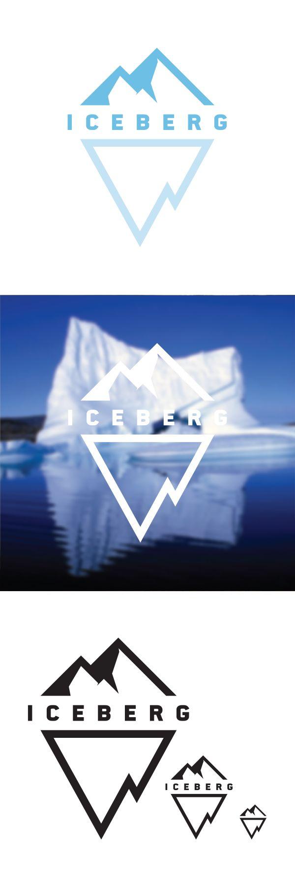 Iceberg Logo Design by Greg White, via Behance