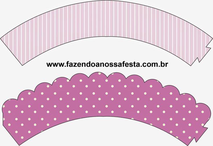 Rayas y Lunares en Lila y Blanco: Imprimibles Gratis para Fiestas.