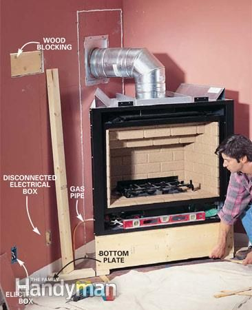 How to Install a  Corner Gas Fireplace