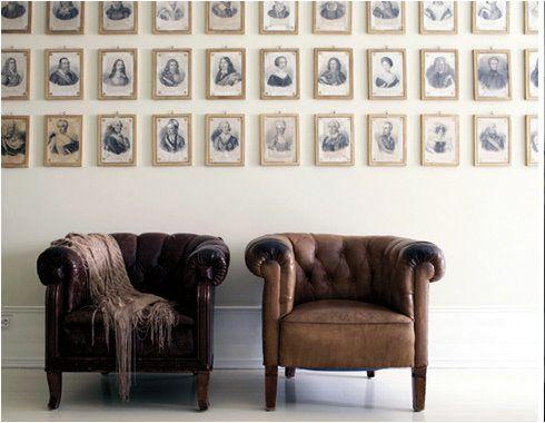 prints serve as wallpaper