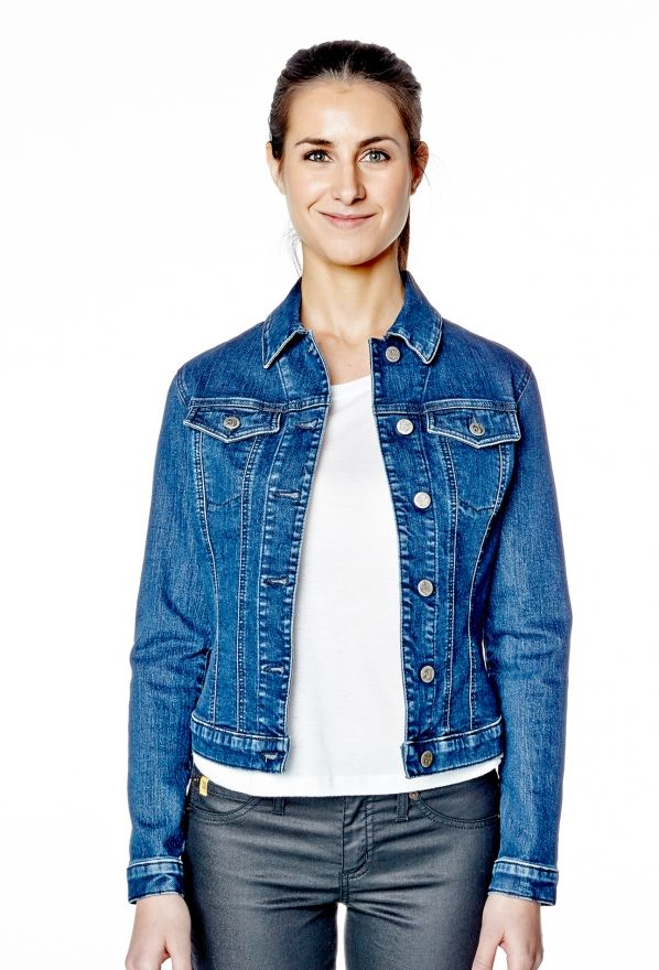 Classic Jean Jacket in Classic Blue by Yoga Jeans