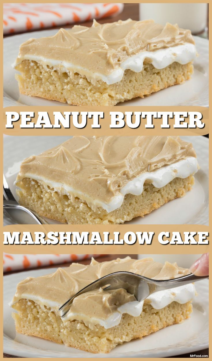 Peanut butter and marshmallow creme are a match made in heaven, so you know this cake is going to make your taste buds feel like they're floating on cloud 9.