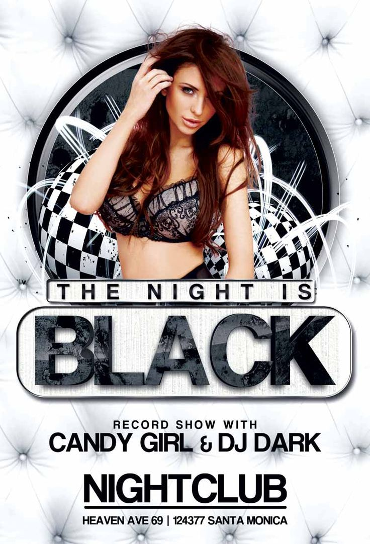 Free Black Night Club Party Flyer Template - http://freepsdflyer ...
