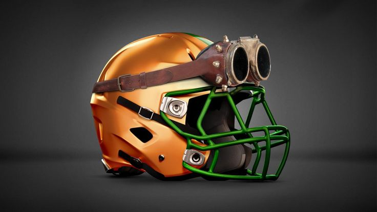 WWE-inspired football helmets: photos
