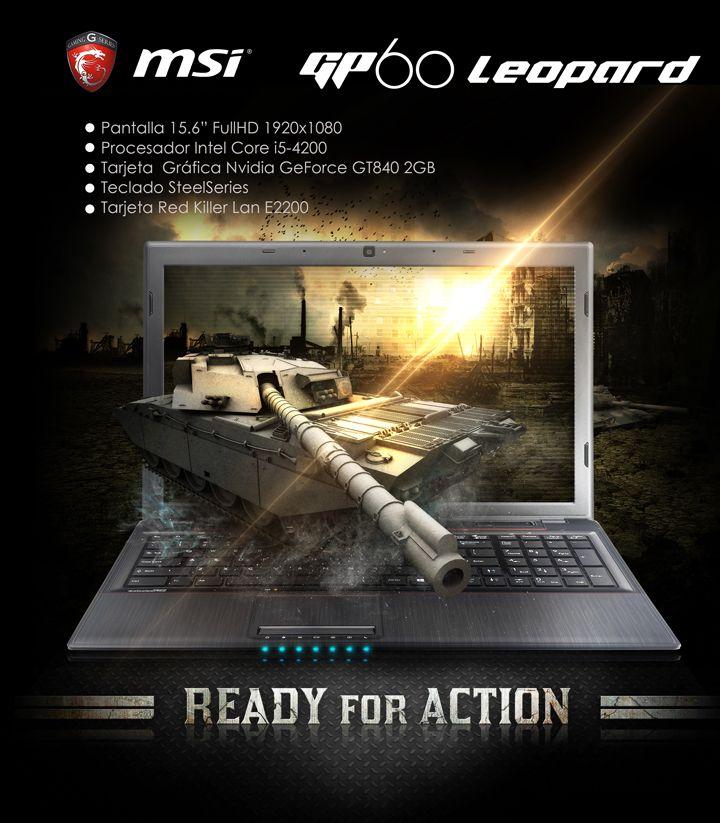 Portátil MSI GP60 LEOPARD