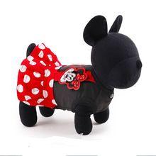 Pet vestiti del cane adorabile animale domestico cane cartone animato dot vestito da estate barboncino chihuahua cane camicia pet products