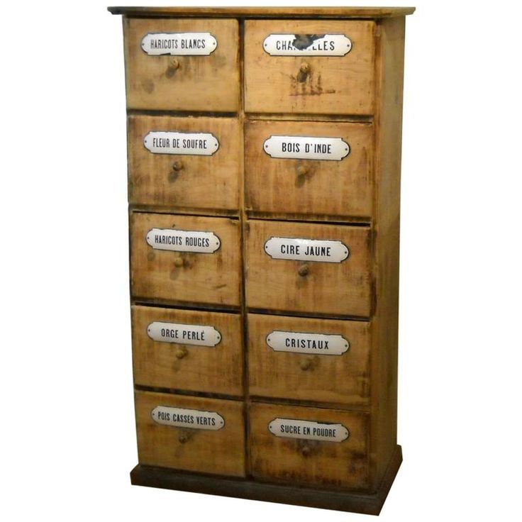 French Pine Seed Cabinet | From a unique collection of antique and modern cabinets at https://www.1stdibs.com/furniture/storage-case-pieces/cabinets/