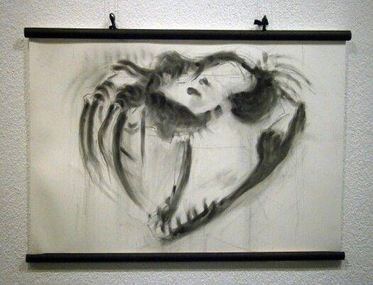 Monstruo de carbón, Carboncillo, 50x70