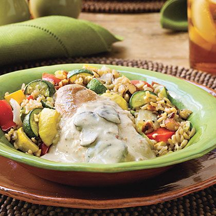 Creamy Slow-cooker Chicken - Spoon this rich and creamy chicken ...