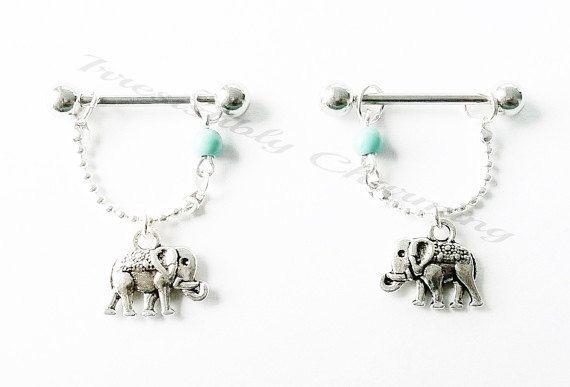 Nipple or cartilage barbell piercings by IrresistiblyCharming