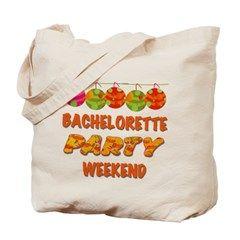 Tropical Bachelorette Weekend Tote Bag> Tropical Bachelorette Party Weekend> peacockcards.com