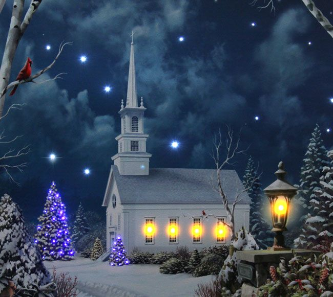 Painting Church In Snow Religious Christmas Ceramic: 1000+ Images About Winter Wonderland On Pinterest