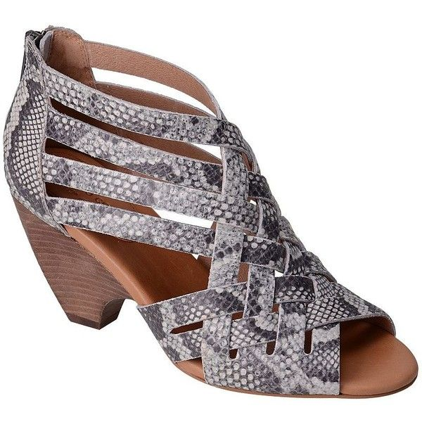 Corso Como Women's Genni Leather Sandals ($79) ❤ liked on Polyvore featuring shoes, sandals, grey, stacked heel sandals, strap sandals, monk-strap shoes, grey strappy sandals and open toe shoes