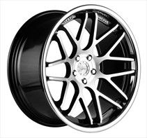 Vertini Wheels Vertini Magic Black Machined with Stainless Steel Chrome Lip Wheel and Tire Packages - Vertini Wheels Wheels on sale, cheap rims, cheap wheels from Vertini Wheels at discount prices