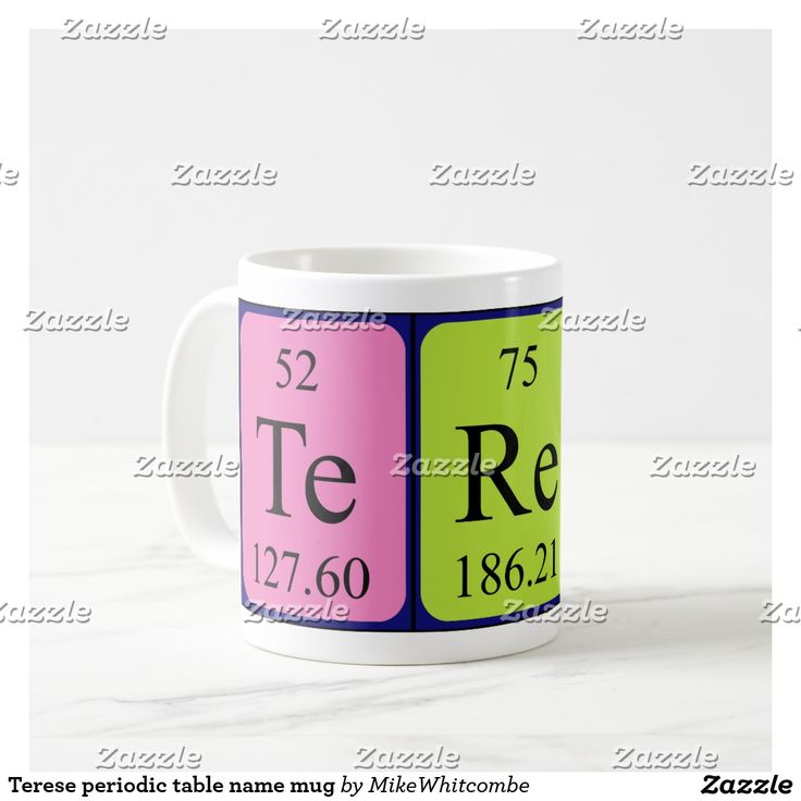 44 best periodic name images on pinterest periodic table terese periodic table name mug urtaz Gallery