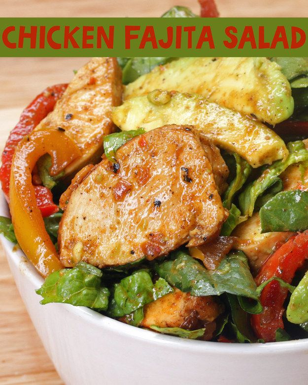Chicken Fajita Salad   This Chicken Fajita Salad Will Be So Perfect In Your Belly