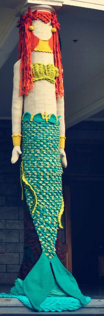 mermaid yarnbomb