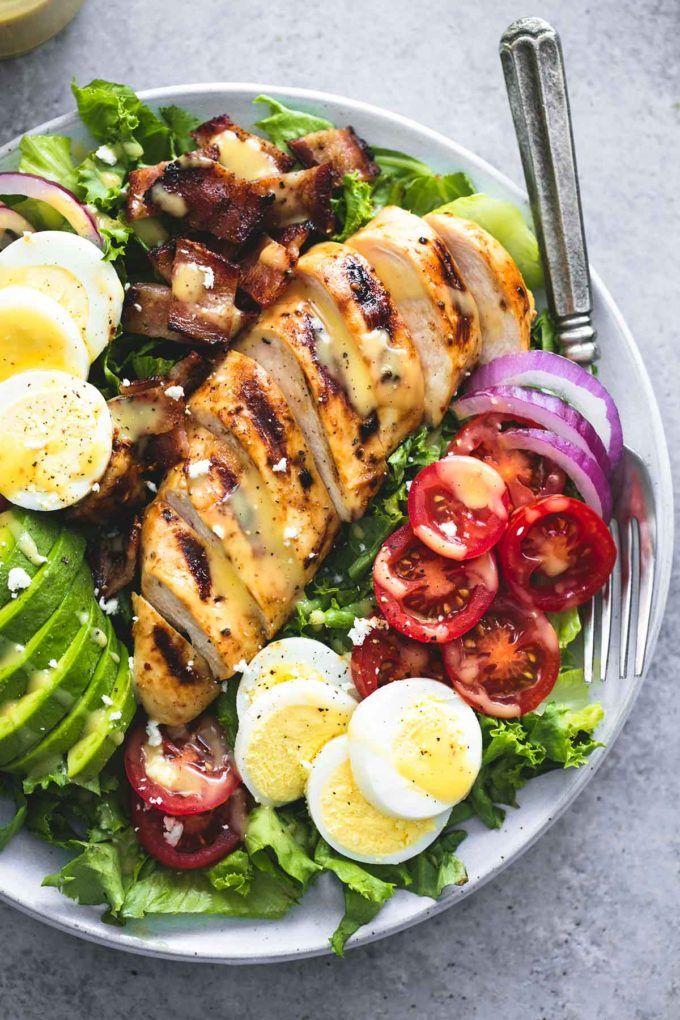 Honey Mustard Chicken Cobb Salad