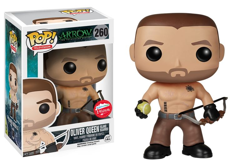 Arrow: Island Scarred Oliver Queen Pop! figure by Funko, Fugitive Toys exclusive to be sold at Toronto Fan Expo and Wizard World San Jose