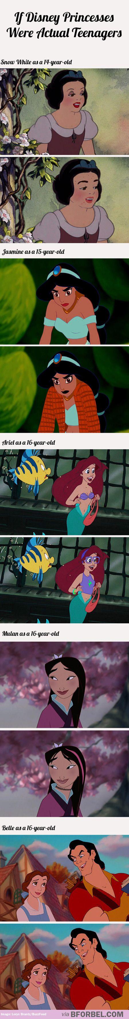 If Disney Princesses were actual teenagers…