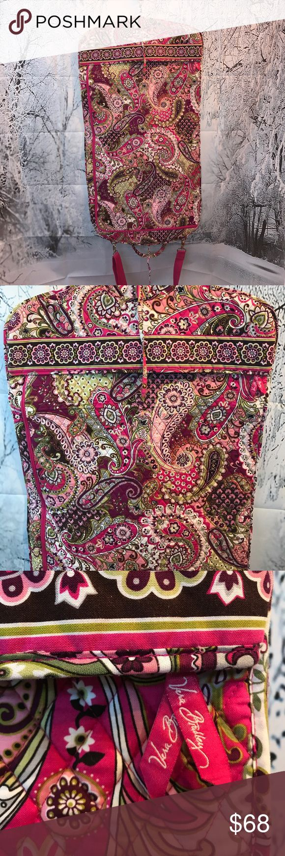 Vera Bradley Garment Bag ❤️ NWOT gorgeous vera Bradley garment travel bag. Has Large additional Outer zipper pocket area. Handle as well as adjustable strap for caring very unique have not seen one of these. ❤️ Vera Bradley Bags Travel Bags