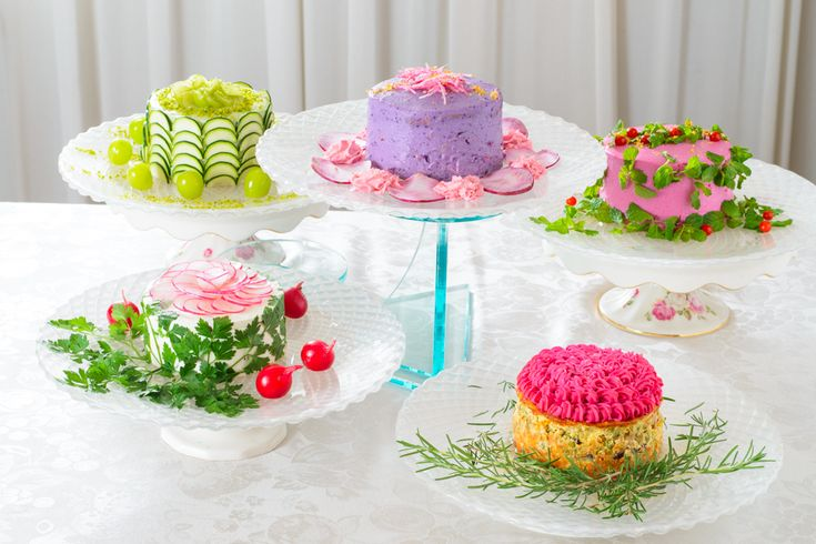 HOLD the phones! It's food disguised as other food?! Is it salad or cake? #mindblown
